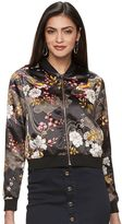 JLO by Jennifer Lopez Women's Floral Sequin Bomber Jacket
