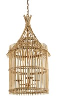The Well Appointed House Bamboo Hut Lantern Chandelier - ON BACKRDER - CALL FOR AVAILABILITY