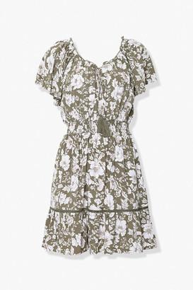 Forever 21 Floral Print Mini Dress
