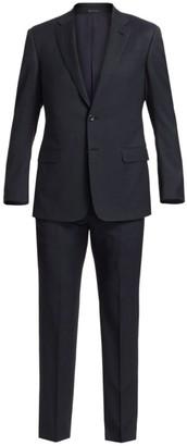 Giorgio Armani Pint Dot Wool-Blend Suit
