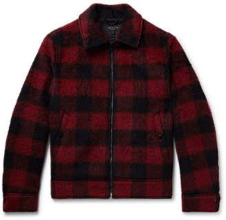 Rag & Bone Buffalo Checked Brushed Woven Jacket