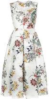 Erdem floral flared dress