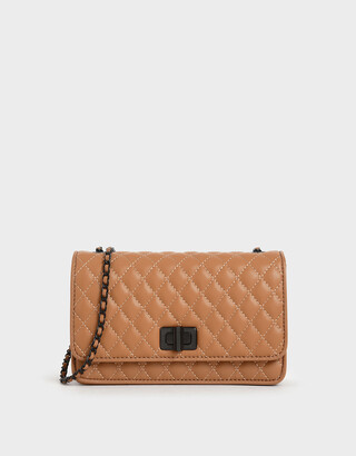 Charles & Keith Quilted Chain Strap Bag