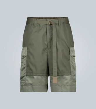 Sacai Belted cargo shorts
