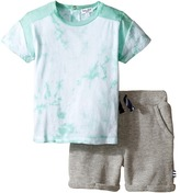 Splendid Littles Short Sleeve Tie-Dye Shorts Set Boy's Active Sets