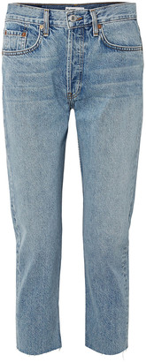 RE/DONE Cropped Mid-rise Slim Boyfriend Jeans