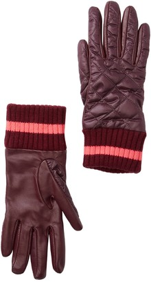 UGG Quilted Varsity Leather Palm Gloves