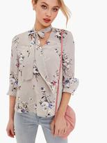 Girls On Film Printed Lace Up Top