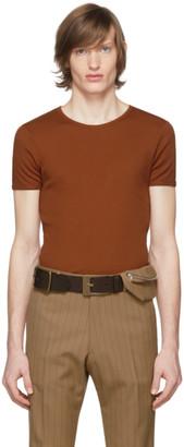 Dries Van Noten Brown Rib Knit T-Shirt