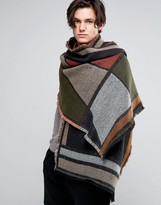 Asos Blanket Scarf In Geometric Color Block