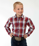 Roper Red Vista Plaid Pocket Button-Up - Boys