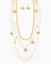 Charming charlie Unforgettable Layered Charm Necklace Set