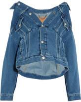 Balenciaga Swing Oversized Denim Jacket - Blue
