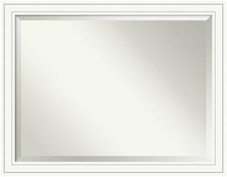 "Amanti Art Bathroom Mirror, Fits Standard 36-48"" Cabinet, Craftsman White, 45""x35"