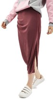 Topshop Women's Drape Midi Skirt