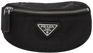 Prada Black Nylon Zip-Around Arm Pouch