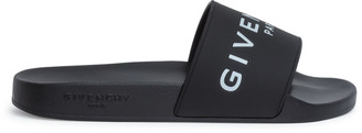 Givenchy Black rubber slide sandals