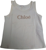 Chloé White Cotton Top
