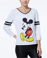 Freeze 24-7 Juniors' Mickey Mouse Graphic Varsity T-Shirt