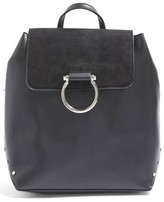 Topshop Remy Trophy Faux Leather Backpack - Black