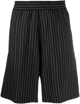 Neil Barrett pinstripe elasticated-waistband shorts