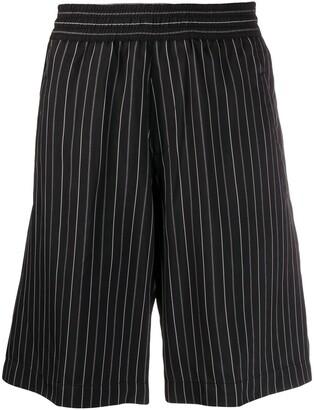 Neil Barrett Pinstripe Elasticated-Waistband Shorts