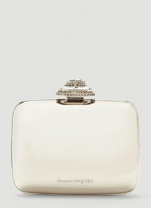 Alexander McQueen Mini Metallic Clutch Bag