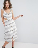 Glamorous Stripe Sundress With Cut Out Waist