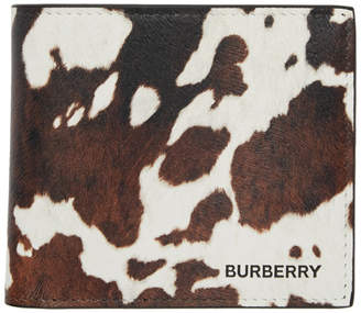 Burberry Brown and White Cow International Bifold Wallet