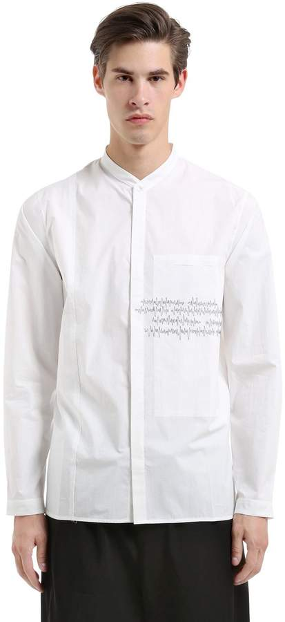 Isabel Benenato Heartbeat Cotton Poplin Shirt