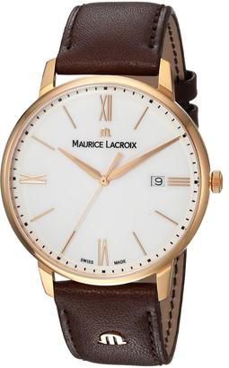 Maurice Lacroix Men's Eliros Swiss Quartz Watch with Leather Calfskin Strap