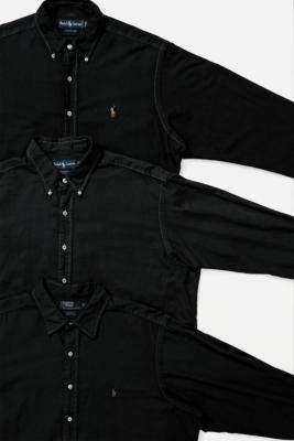 Urban Renewal Vintage Ralph Lauren Black Overdyed Shirt - black S at Urban Outfitters