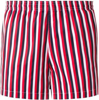Vertical Thin Stripes Swim Shorts