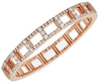 Zydo 18K Rose Gold & Diamond Stretch Bracelet
