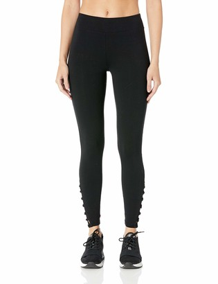 Andrew Marc Women's Long Legging with Crochet Cut-Out