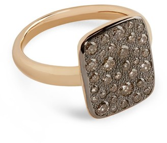 Pomellato Rose Gold and Diamond Sabbia Ring