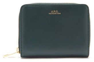 A.P.C. Emmanuelle Zip-around Leather Wallet - Dark Green