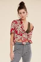 Urban Outfitters Souvenir Tie-Front Hawaiian Shirt
