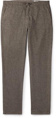 NN07 Copenhagen 1254 Tapered Melange Cotton-Blend Drawstring Trousers