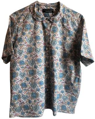 Cacharel Blue Cotton Top for Women Vintage
