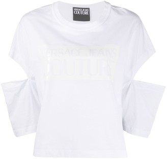 Versace draped cut-out T-shirt