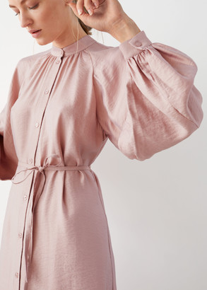 And other stories Belted Button Up Midi Dress