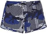 Neil Barrett Blue Printed Swim Shorts