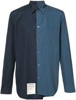Maison Margiela asymmetric two-tone shirt - men - Cotton - 38