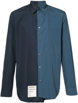 Maison Margiela asymmetric two-tone shirt