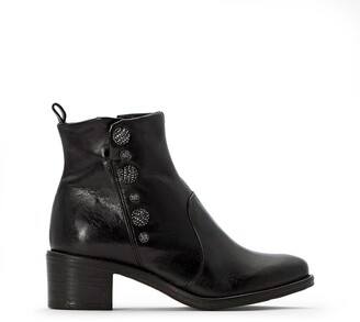 Mjus Flyn Leather Heeled Boots