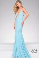 Jovani Fitted Beaded Jersey Prom Dress JVN27108