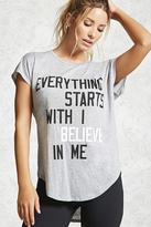 Forever 21 Active Believe Boxy Top
