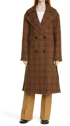 Proenza Schouler White Label Plaid Double Breasted Coat