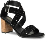 Chase & Chloe Pansy Studded Block Heel Sandal